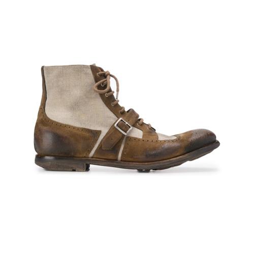 Imagem de Church's panelled oxford boots - Neutro