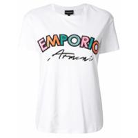 Emporio Armani Camiseta Com Logo - Branco