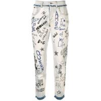 Dolce & Gabbana Calça Jeans Queen - Branco