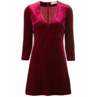 Blanca Vestido De Veludo - Vermelho