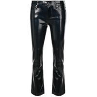 Rta Cropped Varnished Trousers - Preto