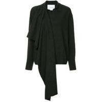 Pushbutton Suéter Com Detalhe De Echarpe - Cinza