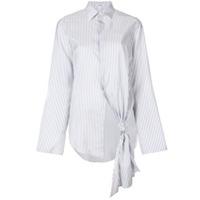 Loewe Camisa De Seda Listrada - Branco