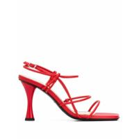 Proenza Schouler Sandália De Tiras Com Salto Alto - Vermelho