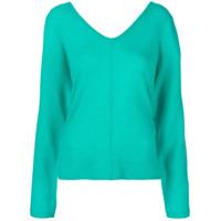 Max & Moi Suéter Com Decote V - Azul