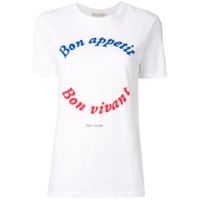 Être Cécile Camiseta Bon Appetit - Branco