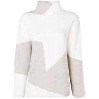 Lorena Antoniazzi Contrast Knit Sweater - Neutro
