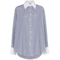 Matthew Adams Dolan Camisa Listrada - Azul