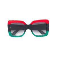 Gucci Eyewear Óculos De Sol Oversized - Estampado