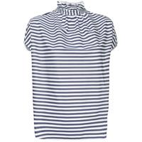Atlantique Ascoli Striped Shortsleeved Shirt - Branco