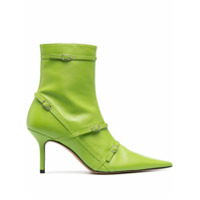 Abra Ankle Boot Bico Fino - Verde