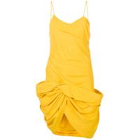 Jacquemus Vestido Drapeado - Amarelo