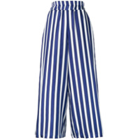 Altea Calça Pantalona Listrada - Azul