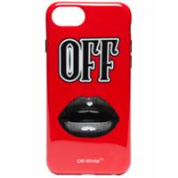 Off-White Capa 'lips' Para Iphone 7 Plus - Vermelho