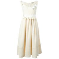 Fendi Vestido Midi Godê - Branco