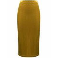 Antonella Rizza Saia Lápis De Veludo - Amarelo