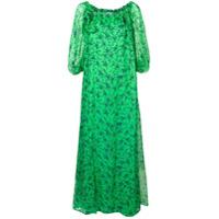 P.a.r.o.s.h. Vestido Longo 'starlight' - Verde