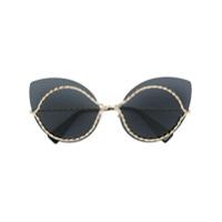 Marc Jacobs Eyewear Óculos De Sol Gatinho - Preto
