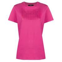 Diesel Camiseta Com Estampa De Logo De Código De Barras - Rosa