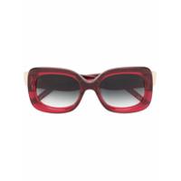 Pomellato Eyewear Óculos De Sol Quadrado - Vermelho
