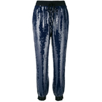 Hilfiger Collection Calça Esportiva Com Paetês - Azul