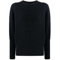 Colombo Suéter Texturizado De Cashmere Com Acabamento Canelado - Azul