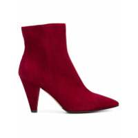 The Seller Ankle Boot De Couro - Vermelho
