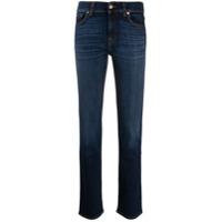 7 For All Mankind Calça Jeans Reta Com Cintura Média - Azul