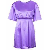 Cynthia Rowley Vestido Acinturado - Roxo