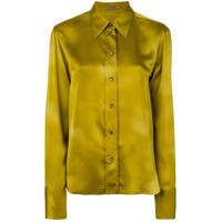 Bottega Veneta Camisa De Seda - Amarelo