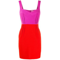 Emilia Wickstead Vestido Color Block - Roxo