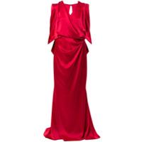 Talbot Runhof Vestido De Festa Pomelo - Vermelho