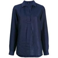 Fay Camisa De Colarinho Aberto - Azul