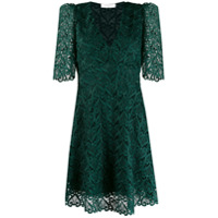 Sandro Paris Vestido Com Renda - Verde