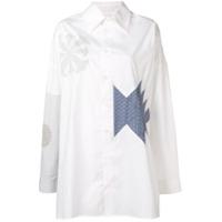 Ambush Camisa Com Patchwork - Branco