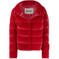 Herno Cropped Puffer Jacket - Vermelho
