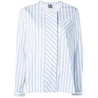 Lorena Antoniazzi Camisa Listrada Flare - Azul