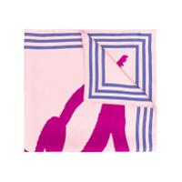 Kenzo Lenço De Seda Com Estampa De Logo - Rosa