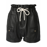 Bassike High Waisted Utility Shorts - Preto