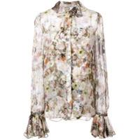 Adam Lippes Floral Print Shirt - Colorido