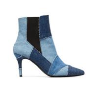 Kalda Bota 'caro 80' Jeans Com Patchwork - Azul