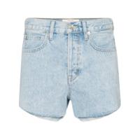 Slvrlake Short Jeans Com Barra Desfiada 'farrah' - Azul