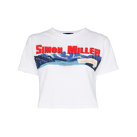 Simon Miller Camiseta Cropped Com Logo 'rando' - Branco