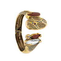 Camila Klein Bracelete Baguetes E Strass - Dourado