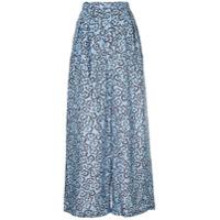 Christian Wijnants Calça Pantalona Estampada - Azul