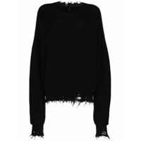 Unravel Suéter Oversized Destroyed - Preto