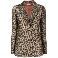 P.a.r.o.s.h. Blazer Com Estampa Leopardo - Marrom