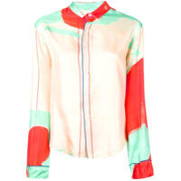 Rohka Camisa Estampada Com Botões - Verde