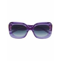 Pomellato Eyewear Óculos De Sol Retangular - Roxo
