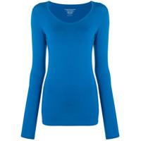 Majestic Filatures Camiseta Decote Em U - Azul